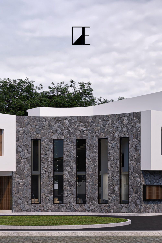 Casa Alvirde - Fachada Perspectiva 02