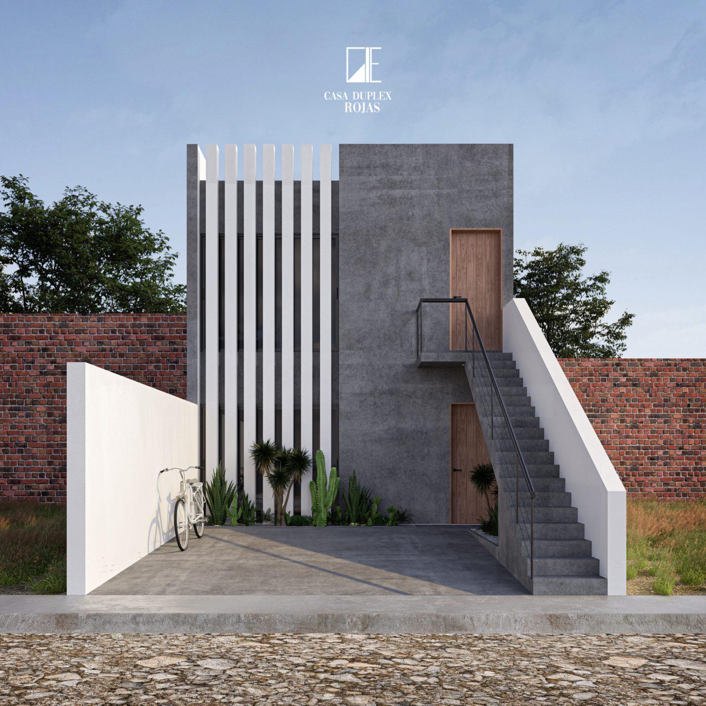 GLE Arquitectura, casa duplex diseñada por el arq. Ernesto González López