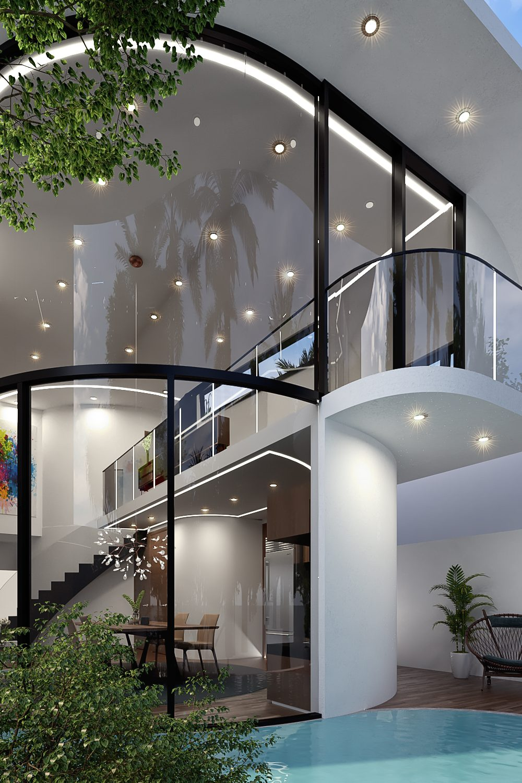 GLE Arquitectura - Casa Loera Fachada Posterior