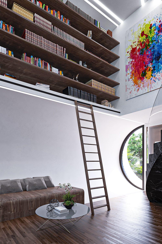 GLE Arquitectura - Casa Loera - Ingreso-Biblioteca