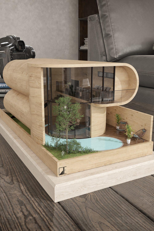 GLE Arquitectura - Casa Loera - Maqueta Fachada Posterior