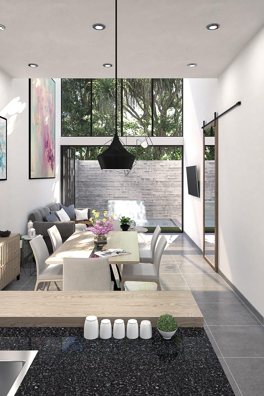 GLE Arquitectura - Casa Marín - Barra Cocina