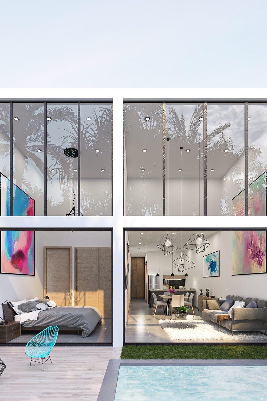 GLE Arquitectura - Casa Marín - Fachada Posterior