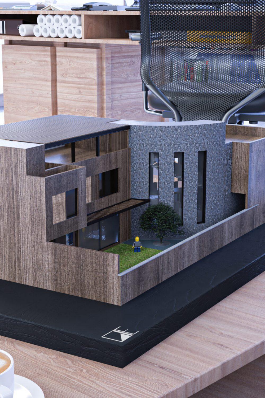 GLE Arquitectura - Maqueta Alvirde 01